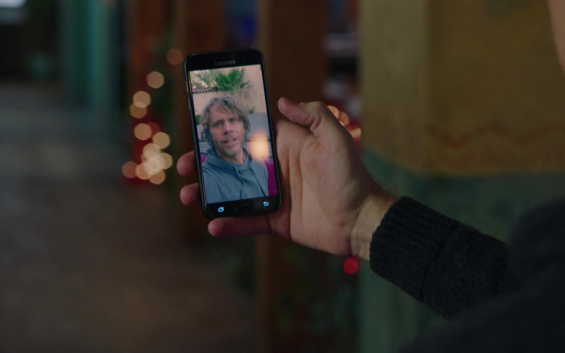 Samsung Galaxy Smartphone of Barrett Foa as Technical Operator Eric Beale in NCIS Los Angeles S12E06