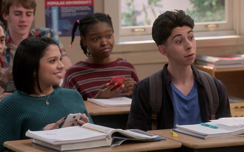 Samsung Galaxy White Smartphone of Cree Cicchino as Marisol Fuentes in Mr. Iglesias S03E01