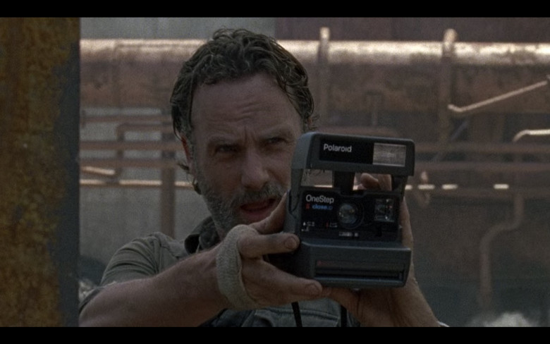 """Polaroid Camera of Andrew Lincoln as  Rick Grimes in The Walking Dead S08E01 """"Mercy"""" (2017)"""