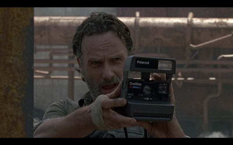 "Polaroid Camera of Andrew Lincoln as Rick Grimes in The Walking Dead S08E01 ""Mercy"" (2020)"