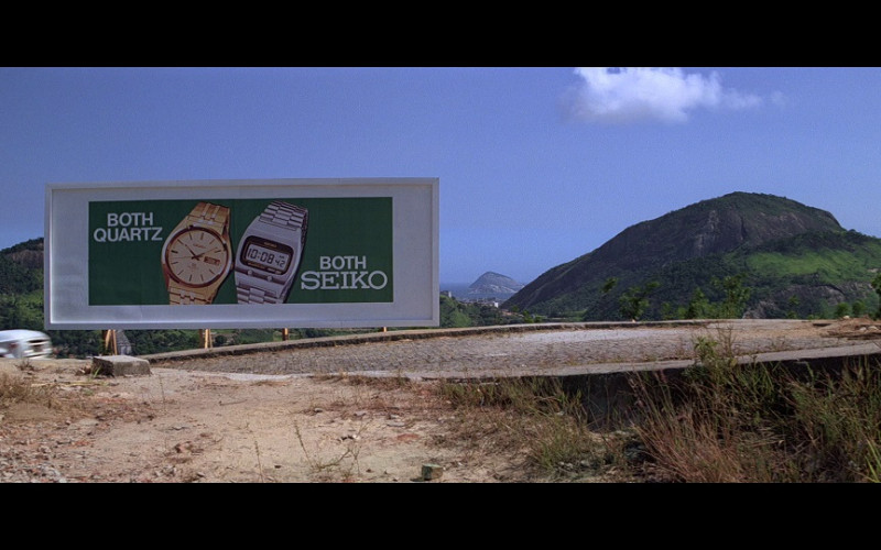 Seiko Watches Billboard in Moonraker (1979)