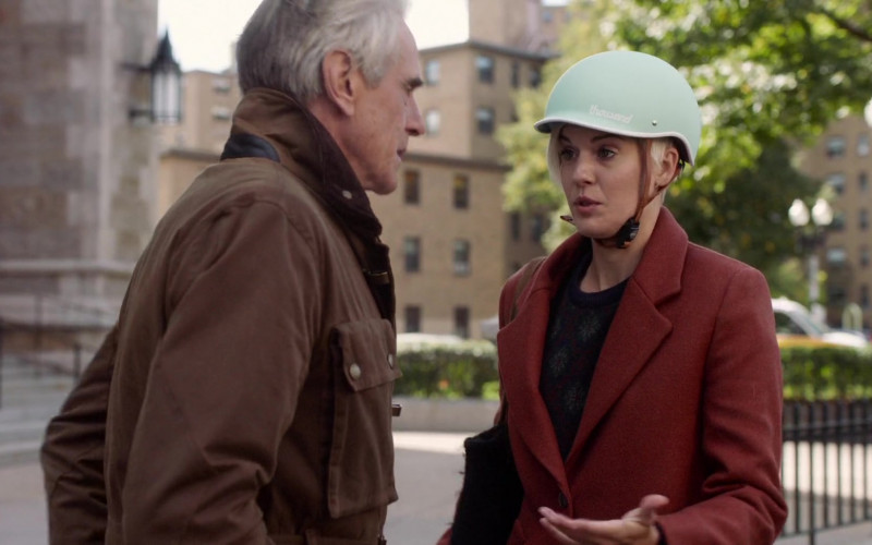 Thousand Bike Helmet of Maggie Grace as Jessie in Love, Weddings & Other Disasters (2020)