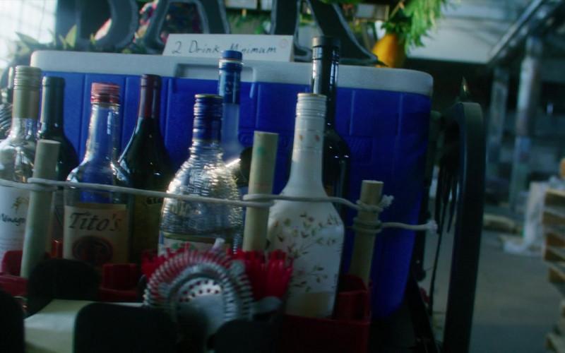 Tito's Handmade Vodka Bottle of Craig Robinson as Lester in Songbird (2020)