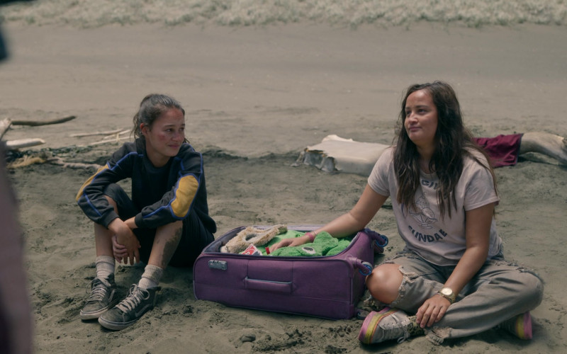 Vans Black HiTop Shoes of Erana James as Toni Shalifoe in The Wilds S01E07 Day Fifteen