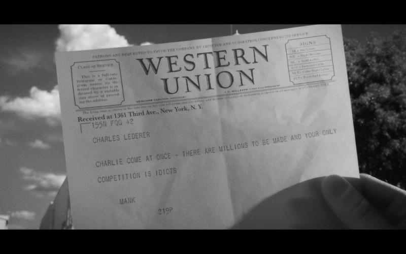 Western Union in Mank (2020)