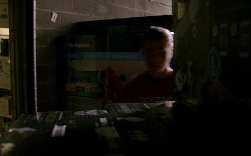 Westinghouse Smart TV Box in Cobra Kai S01E04 Cobra Kai Never Dies (2018)