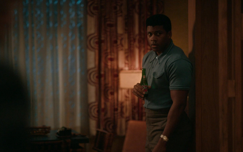 7UP Soda Drink Enjoyed by Eli Goree as Muhammad Ali in One Night in Miami (2020)