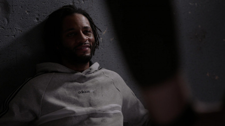 Adidas Men's Hoodie of Rasell L. Holt as Truman Powell in Chicago P.D. S08E03 (1)