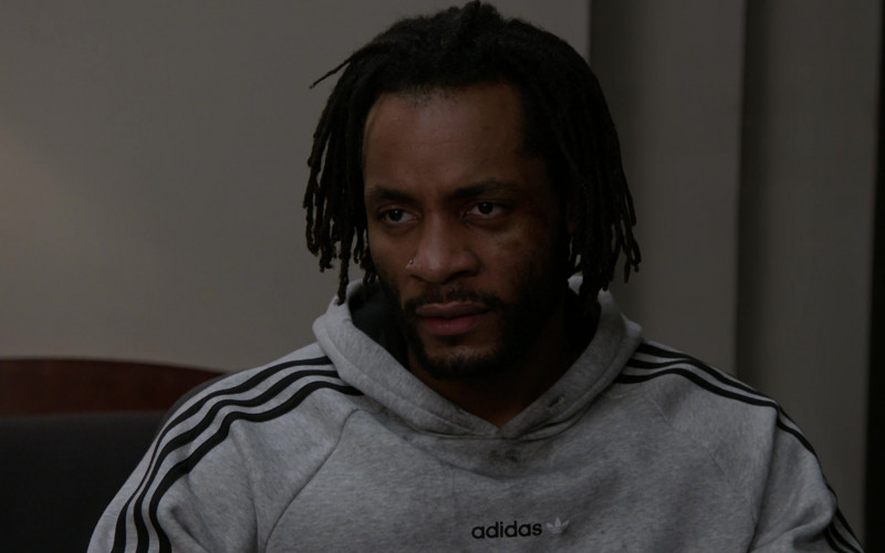 Adidas Men's Hoodie of Rasell L. Holt as Truman Powell in Chicago P.D. S08E03 (3)