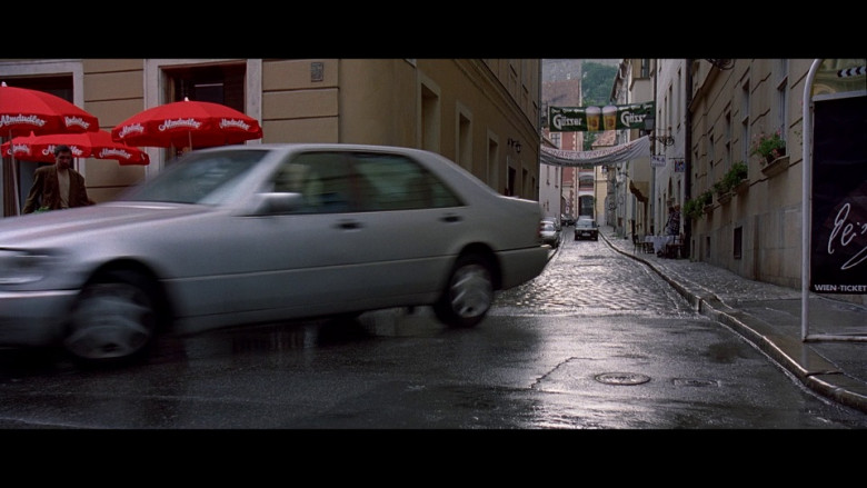 Almdudler Umbrellas & Gösser Ad in The Peacemaker (1997)