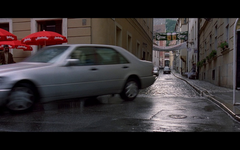 Almdudler Umbrellas & Gösser Ad in The Peacemaker (1997)