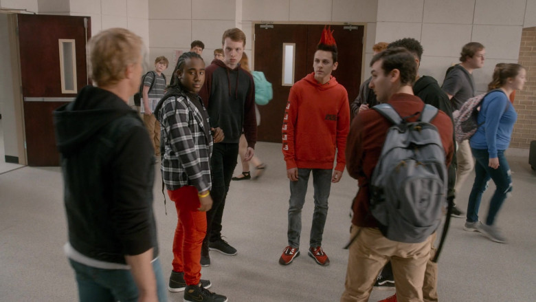 American Eagle Hoodie of Jacob Bertrand as Eli 'Hawk' Moskowitz in Cobra Kai S03E07 (2)