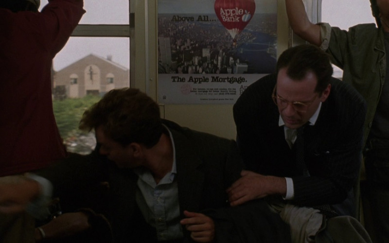 Apple Bank for Savings Poster in The Bonfire of the Vanities (1990)