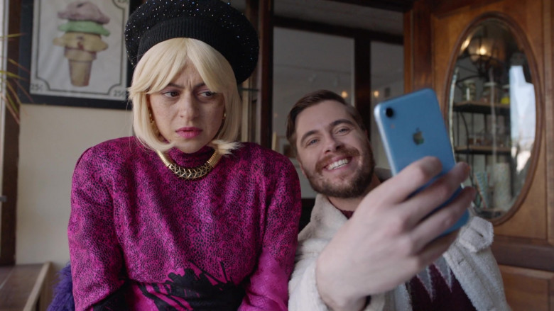 Apple iPhone Blue Smartphone in Search Party S04E06