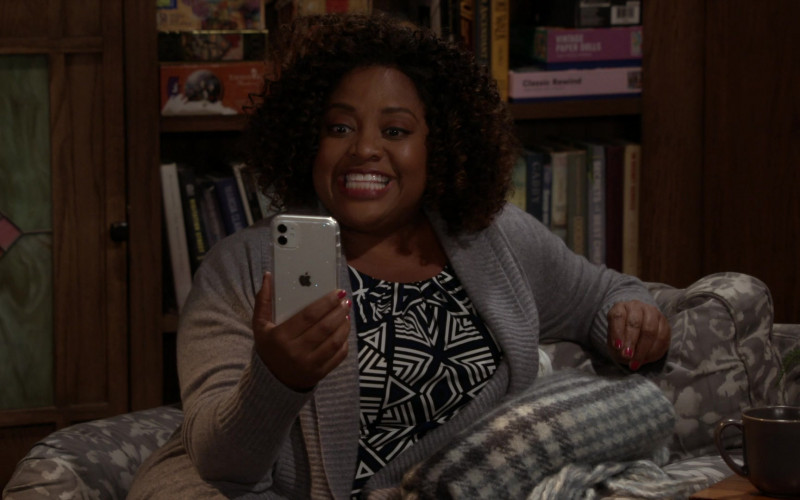 Apple iPhone Smartphone Used by Actress Sherri Shepherd as Sharon in Call Your Mother S01E03 Quaran-Jean (2021)