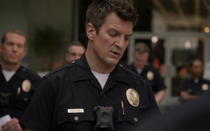 Axon Body Camera of Nathan Fillion as John Nolan in The Rookie S03E02 In Justice (2021)