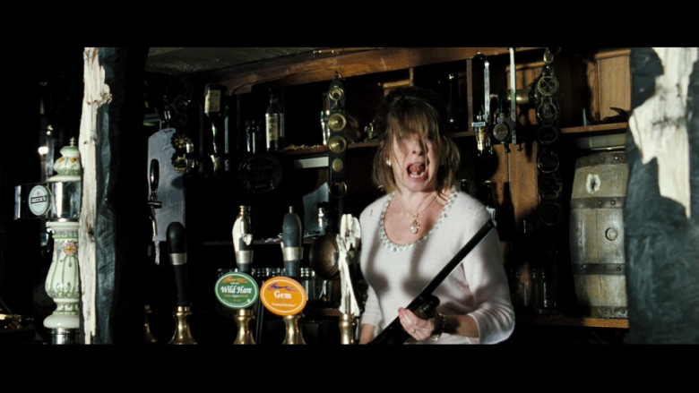 Beck's Beer, Bath Ales Wild Hare Pale Ale and Gem Beer on Tap in Hot Fuzz (2007)
