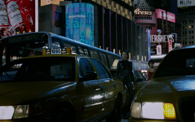 Budweiser, Morgan Stanley, Reese's, Hershey's in Resident Evil Retribution