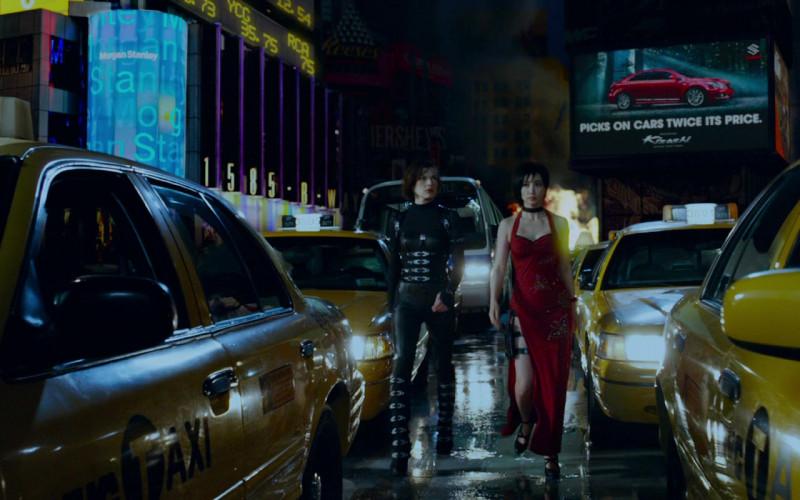 Budweiser, Morgan Stanley and Suzuki in Resident Evil Retribution (2012)