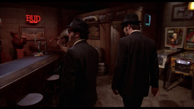 Budweiser neon sign in The Blues Brothers (1980)