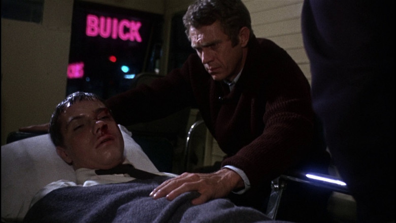 Buick Pink Neon Sign in Bullitt (1968)