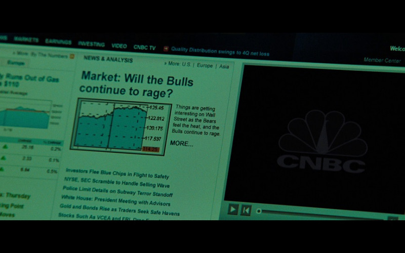 CNBC TV Channel Website in The Taking of Pelham 123 (2009)