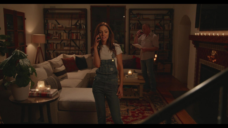 Carhartt Women's Denim Bib Overall of Alexandra Park as Andrea Cooper-Davis in Everyone Is Doing Great S01E04