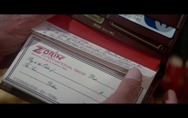 Cartier Wallet – Cheque Book in A View to a Kill (1985)
