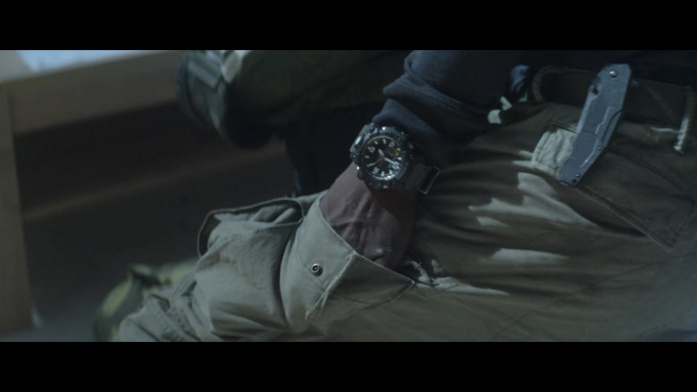 Casio G-Shock Men's Watch of Anthony Mackie as Leo in Outside the Wire 2021 Netflix Movie (2)