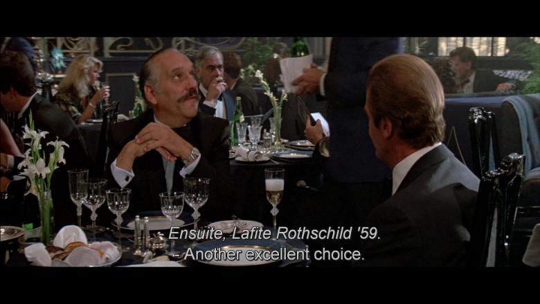Château Lafite Rothschild in A View to a Kill (1985)