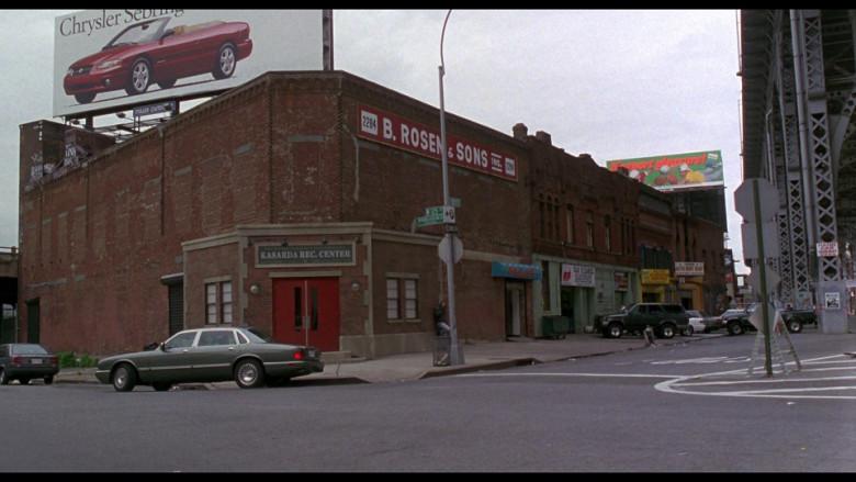 Chrysler Sebring Convertible billboard in Ransom (1996)