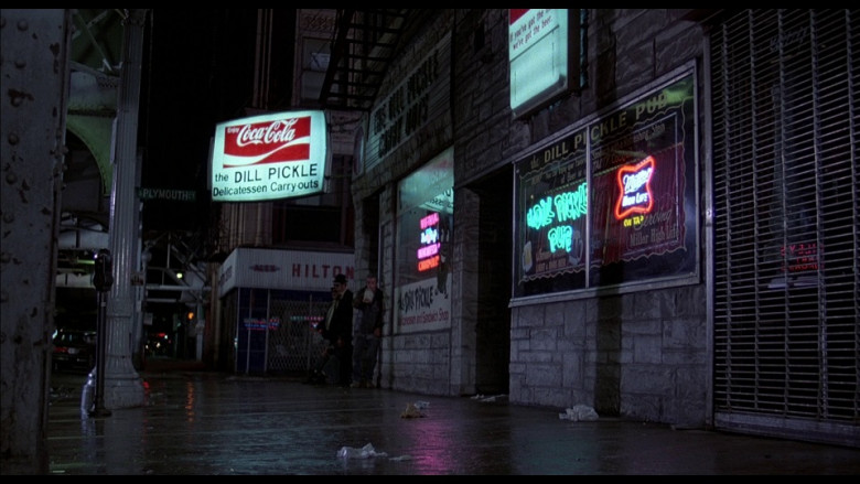 Coca-Cola and Miller High Life Signs in The Blues Brothers (1980)