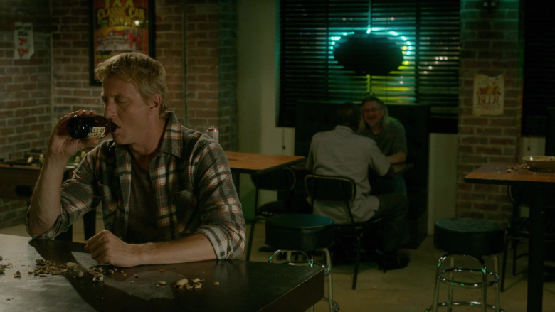 Coors Banquet Beer Drunk by William Zabka as Johnny Lawrence in Cobra Kai S03E04