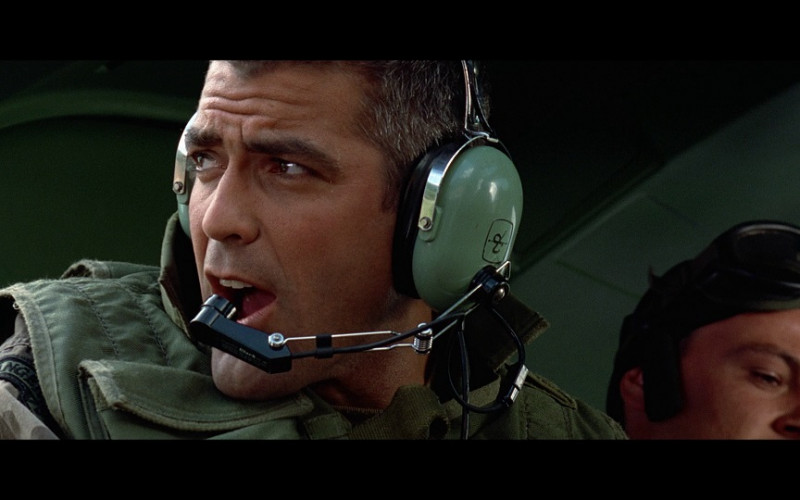 David Clark Aviation Headset of George Clooney as Lt. Col. Thomas Devoe in The Peacemaker (1997)