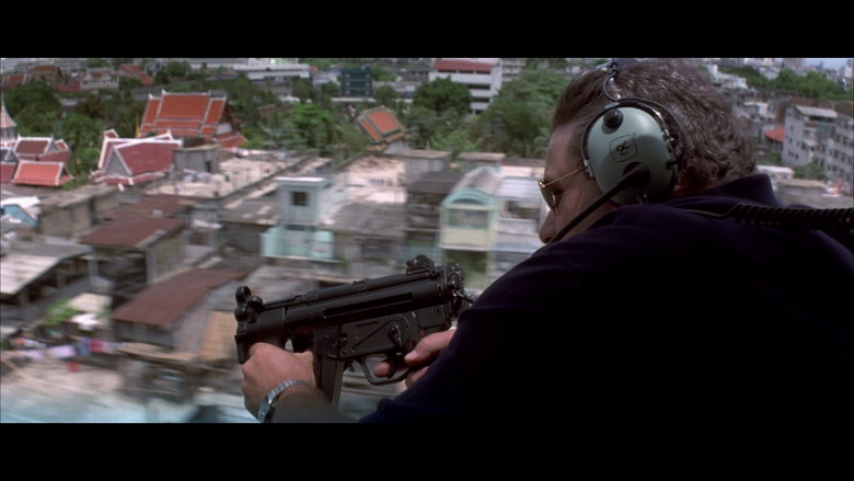David Clark aviation headset in Tomorrow Never Dies (1997)