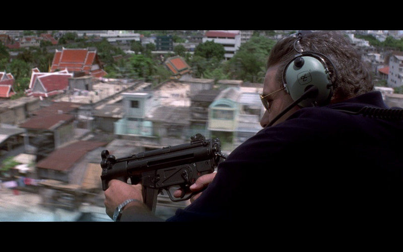 David Clark aviation headset in Tomorrow Never Dies (1997)