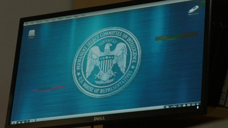 Dell Computer Monitor Used by Donna Lynne Champlin as Guinevere Claflin in The Blacklist S08E04 (3)