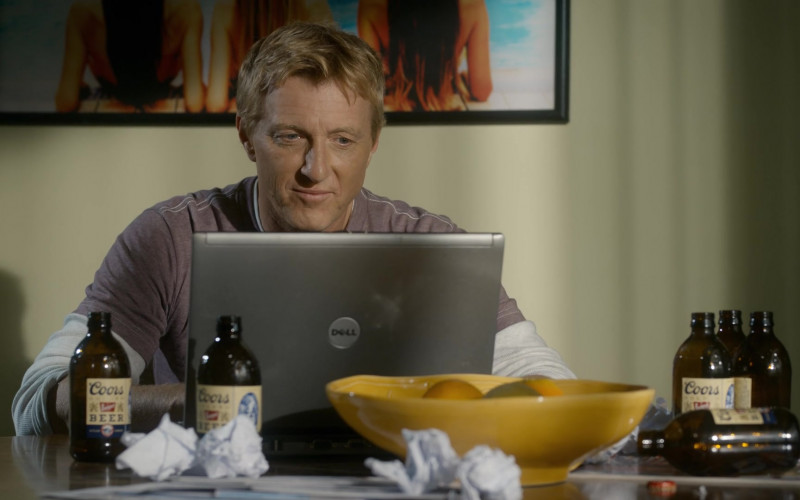 Dell Laptop and Coors Banquet Beer of William Zabka as Johnny Lawrence in Cobra Kai S03E06