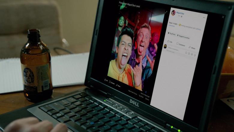 Dell Laptop of William Zabka as Johnny Lawrence in Cobra Kai S03E05 (5)
