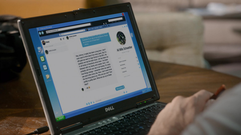 Dell Laptop of William Zabka as Johnny Lawrence in Cobra Kai S03E07 (2)