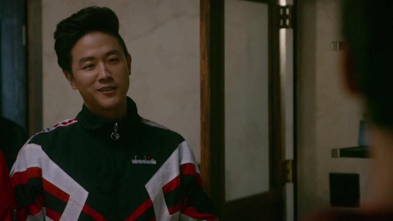 Diadora Men's Jacket Worn by Actor Joe Seo as Kyler in Cobra Kai S03E10 (1)