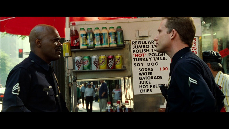 Diet Dr. Pepper, Canada Dry, Squirt & Classic Dr. Pepper Soda Drinks in S.W.A.T. (2003)