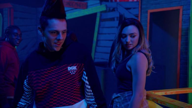 Dirty Ghetto Kids (DGK) Hoodie Outfit of Jacob Bertrand as Eli 'Hawk' Moskowitz in Cobra Kai S03E05 (3)