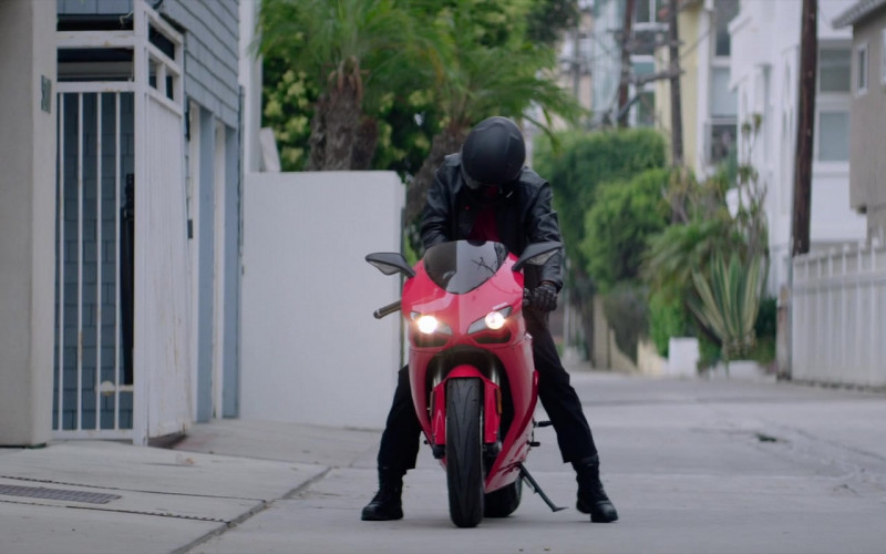 Ducati 1198 Red Motorcycle of Michael Ealy as Derrick Tyler in Fatale Movie (1)