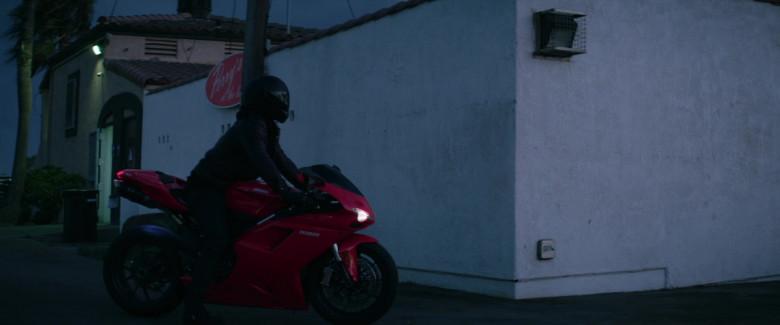 Ducati 1198 Red Motorcycle of Michael Ealy as Derrick Tyler in Fatale Movie (2)