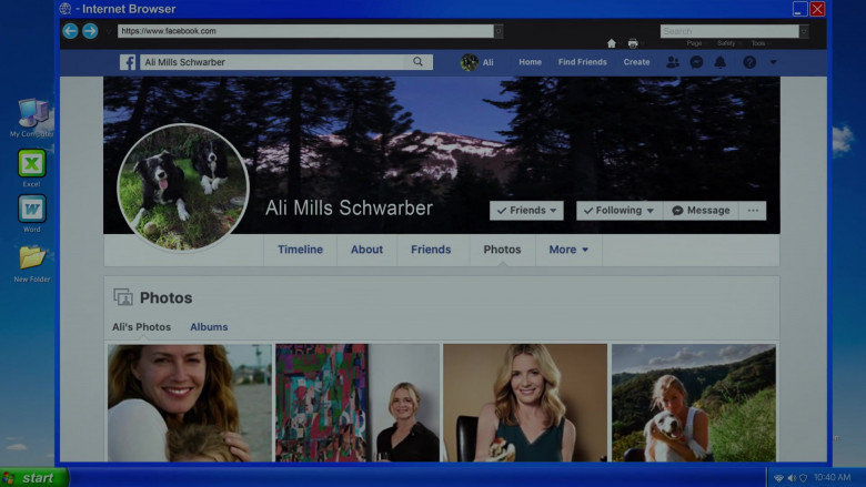 Facebook Social Network in Cobra Kai S03E06