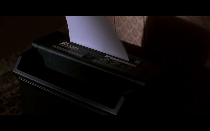 Fellowes Powershred Ps30 Paper Shredder in The Jackal (1997)