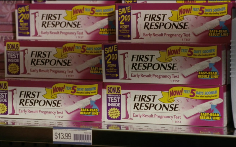 First Response Early Result Pregnancy Test and Vaseline in Noel (2004)