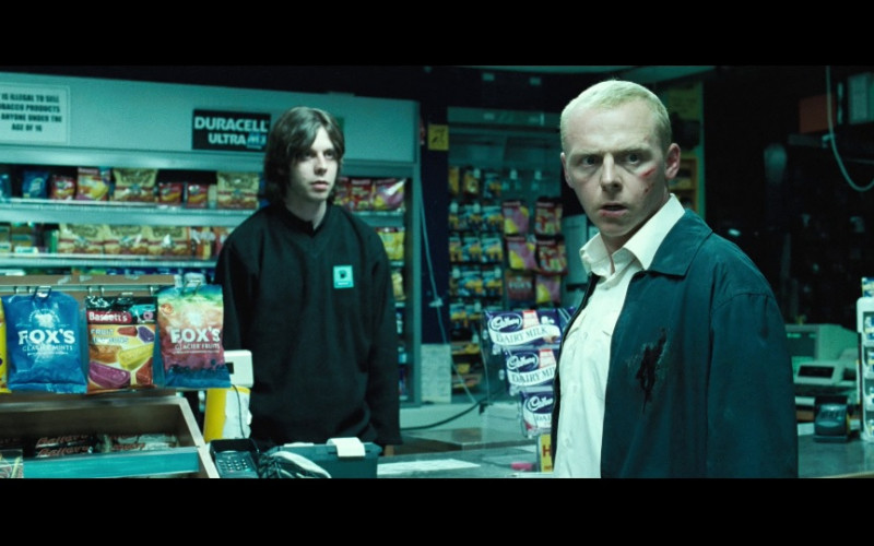 Fox's, Bassett's, Duracell Ultra, Cadbury in Hot Fuzz (2007)
