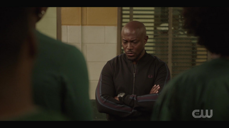 Fred Perry Men's Sports Jacket of Taye Diggs as Billy Baker in All American S03E02 How to Survive in South Central (2)
